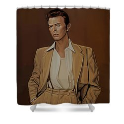 David Bowie Four Ever Shower Curtain by Paul Meijering