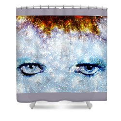 David Bowie / Stardust Shower Curtain by Elizabeth McTaggart