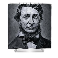 David Henry Thoreau Shower Curtain