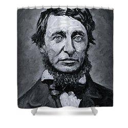 David Henry Thoreau Shower Curtain