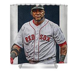 David Ortiz Boston Red Sox Art Shower Curtain