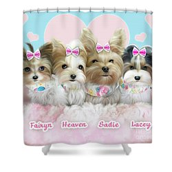 Davidson's Furbabies Shower Curtain by Catia Cho