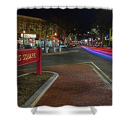 Davis Square Sign Somerville Ma Mikes Shower Curtain