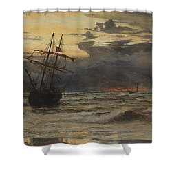 Dawn After The Storm Shower Curtain by William Lionel Wyllie