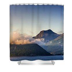 Dawn Along The Nordfjord  Shower Curtain