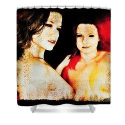 Shower Curtain featuring the digital art Dawn And Ryli 1 by Mark Baranowski