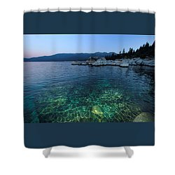 Shower Curtain featuring the photograph Dawn Arrives At Lake Tahoe  by Sean Sarsfield