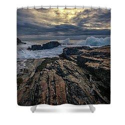 Dawn At Bald Head Cliff Shower Curtain by Rick Berk