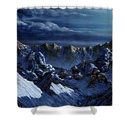 Shower Curtain featuring the digital art Dawn At Eagle's Peak by Curtiss Shaffer