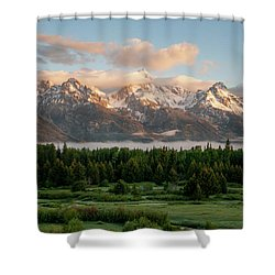 Dawn At Grand Teton National Park Shower Curtain by Brian Harig