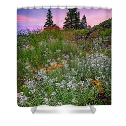 Shower Curtain featuring the photograph Dawn At Height Of Land by Rick Berk