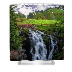 Dawn At Myrtle Falls Shower Curtain