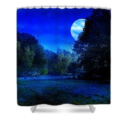 Dawn At Night Shower Curtain