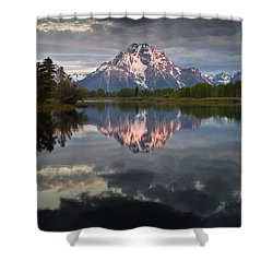 Dawn At Oxbow Bend Shower Curtain