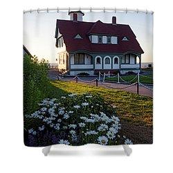 Dawn At Portland Head Light, Cape Elizabeth, Maine  -08614 Shower Curtain
