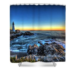 Dawn At Portland Head Lighthouse Shower Curtain