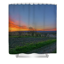 Dawn At Roe Orchards I Shower Curtain by Angelo Marcialis