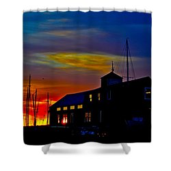 Dawn At The Boatbuilder  Shower Curtain
