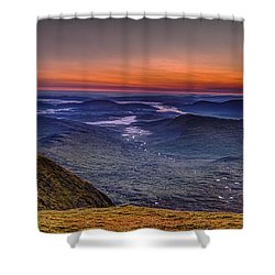 Dawn At The Merrick Summit Shower Curtain