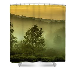 Shower Curtain featuring the photograph Dawn At Wildlife Management Area by Thomas R Fletcher