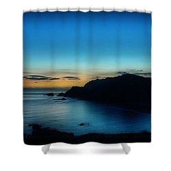 Dawn Blue In Mediterranean Island Of Minorca By Pedro Cardona Shower Curtain by Pedro Cardona
