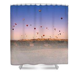 Dawn, Cappadocia Shower Curtain by Marji Lang