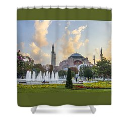 Dawn Hagia Sophia Istanbul Shower Curtain