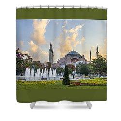 Dawn Hagia Sophia Istanbul Shower Curtain