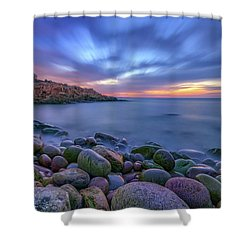 Dawn In Monument Cove Shower Curtain by Rick Berk