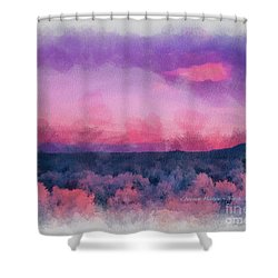 Dawn In Taos In Aquarelle Shower Curtain