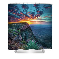 Dawn In The Chisos Shower Curtain