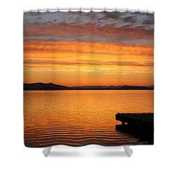 Dawn In The Sky At Dusavik Shower Curtain