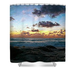 Dawn Of A New Day Seascape Sunrise 141a Shower Curtain