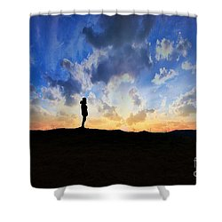 Dawn Of A New Day Sunrise 140a Shower Curtain by Ricardos Creations