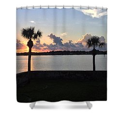 Celebrate 450 Landing Day Shower Curtain