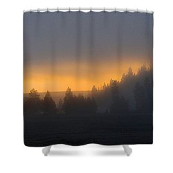 Dawn On A Misty Morning Shower Curtain