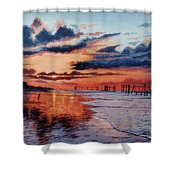 Dawn On Crystal Beach Shower Curtain
