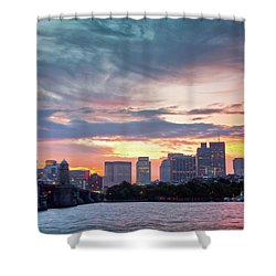 Dawn On The Charles River Shower Curtain