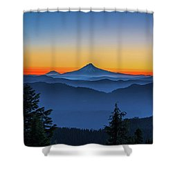 Dawn On The Mountain Shower Curtain