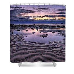 Shower Curtain featuring the photograph Dawn On Wells Beach by Rick Berk