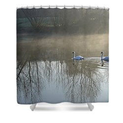 Dawn Patrol Shower Curtain by Rod Johnson