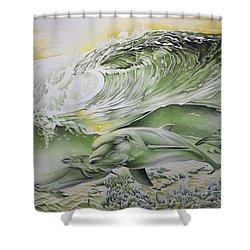Dawn Patrol Shower Curtain by William Love