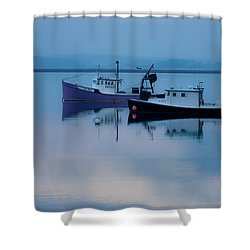 Shower Curtain featuring the photograph Dawn Rising Over The Harbor by Jeff Folger