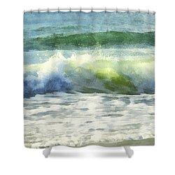 Shower Curtain featuring the digital art Dawn Wave by Francesa Miller