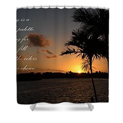 Shower Curtain featuring the photograph Dawn's Blank Palette by Pamela Blizzard