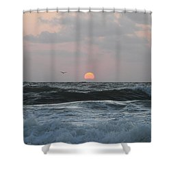 Shower Curtain featuring the photograph Dawn's Crashing Seas by Robert Banach