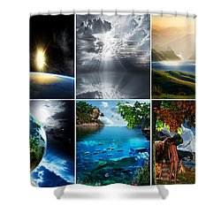 Day 7 Shower Curtain by Lourry Legarde