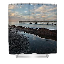Day At The Pier Shower Curtain