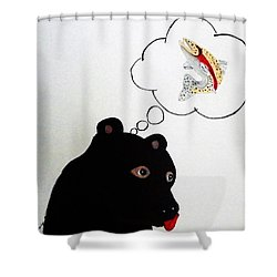 Day Dreaming Of Lunch Shower Curtain by Joseph Frank Baraba