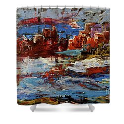 Shower Curtain featuring the painting Day Dreaming Sedona Arizona by Reed Novotny